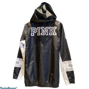 PINK Victoria's Secret Black & white Windbreaker